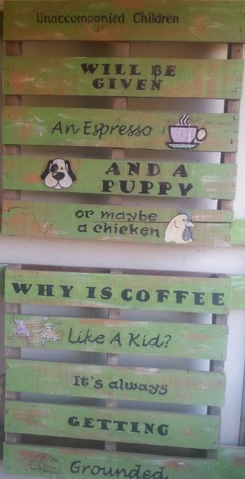 Cute sign at Kauai Coffee