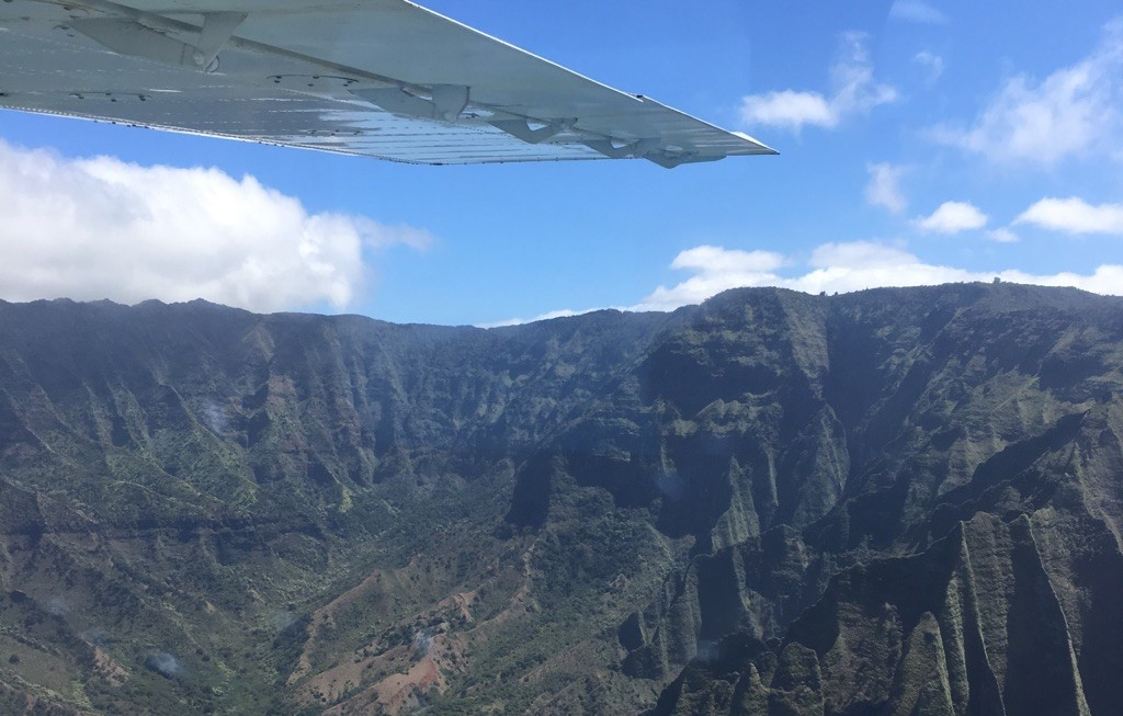 Kauai by plane (photo: Brent Petersen)