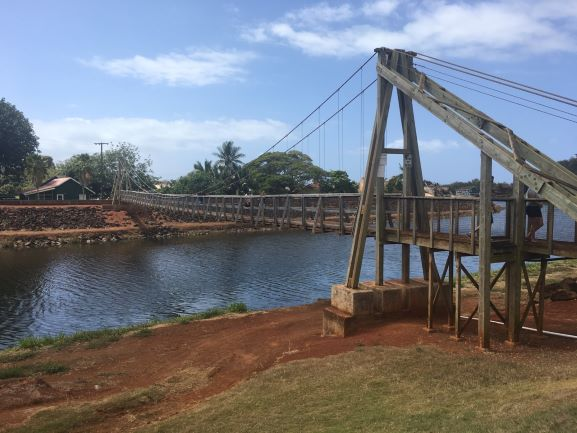 Hanapepe's Swinging Bridge, Kauai (photo: Brent Petersen)