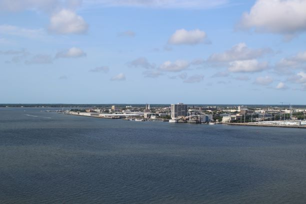 View from the top of the Arthur Ravenel Jr. Bridge, Charleston, SC (photo: Brent Petersen)