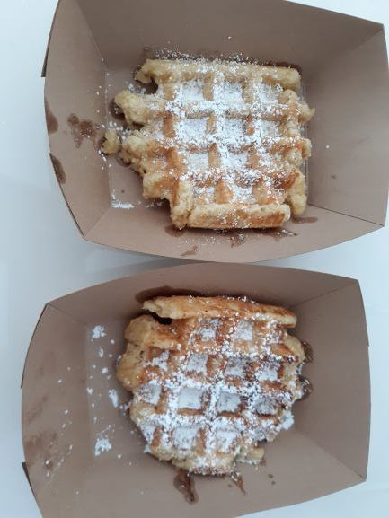 Liege waffles from Mirabelle, Savannah, GA (photo: Brent Petersen)