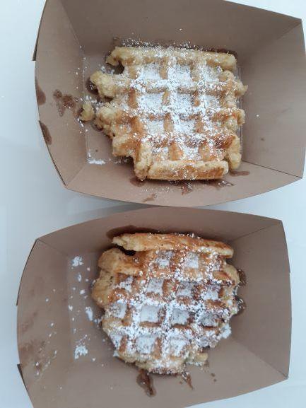 Liege waffles from Mirabelle, Savannah, GA (photo: Brent Petersen)
