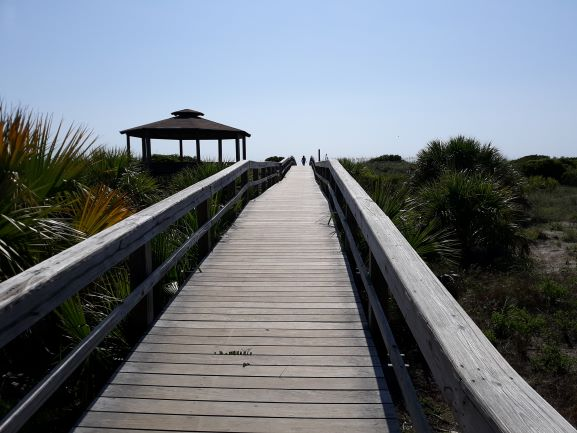 Tybee Island North Beach boardwalk - watch out for the noseeums (photo: Brent Petersen)