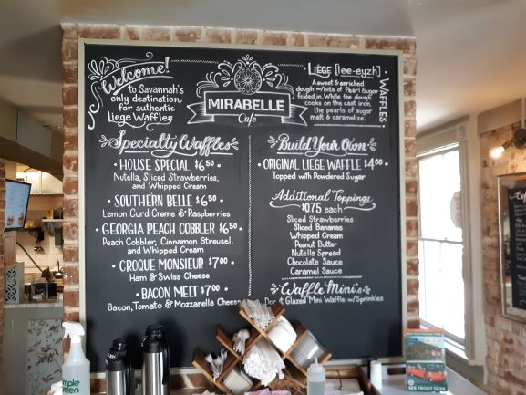 Menu at Mirabelle (photo: Brent Petersen)