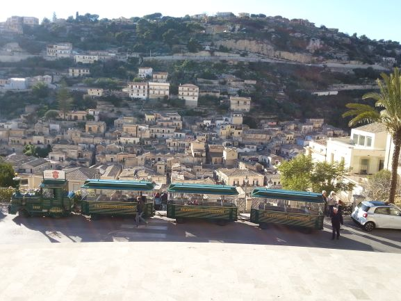 Lower Modica (Modica Bassa) from the church of San Giorgio. (photo: Brent Petersen)