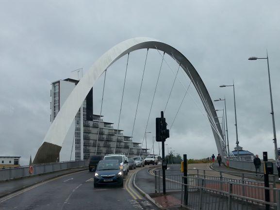 The famous Glasgow Clyde Arc (Photo: Brent Petersen)