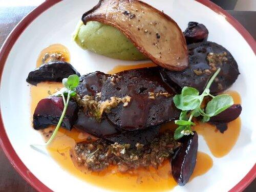 """Sirloin Steak"" from Sova the Vegan Butcher (Photo: Brent Petersen)"