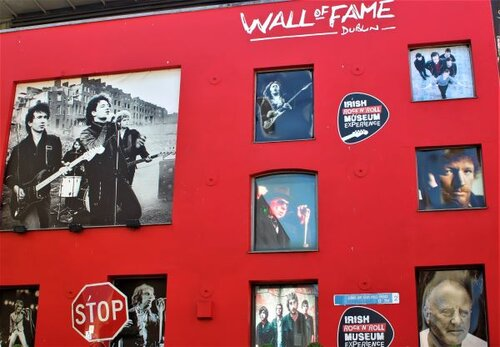 The Wall of Fame in Dublin features local heroes U2 (photo: Brent Petersen)