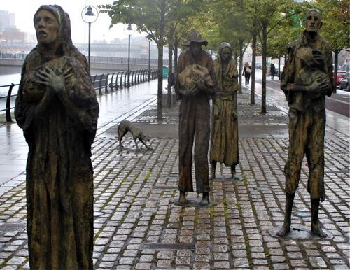 The moving Famine Memorial in Dublin (photo: Brent Petersen)
