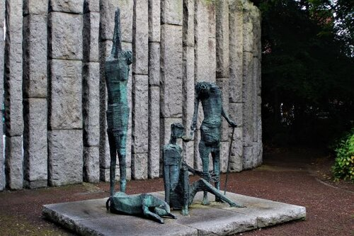 Famine sculpture at St. Stephen's Green in Dublin (photo: Brent Petersen)