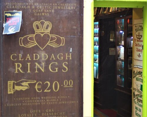 Claddagh Rings are for sale everywhere in Galway (photo: Brent Petersen)