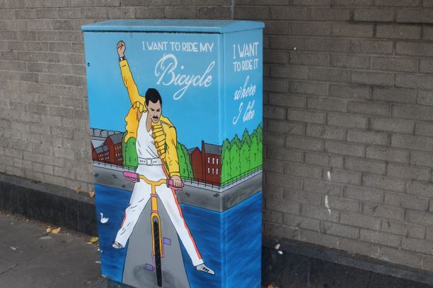 Freddy Mercury electrical box (photo: Brent Petersen)