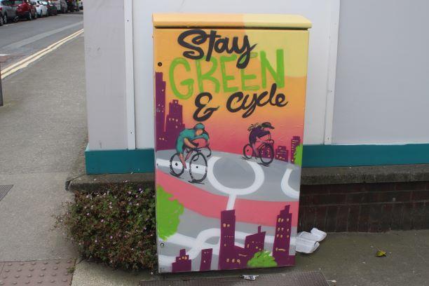 Electric box street art (photo: Brent Petersen)