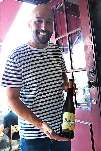 Moisés, proprietor at Wine Quay, with another fine selection (photo: Brent Petersen)