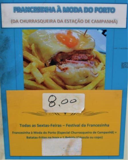 Cafe pushing their Francesinha (photo: Brent Petersen)