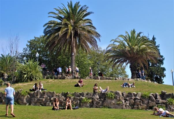 Park above the Port cellars in Vila Nova da Gaia (photo: Brent Petersen)