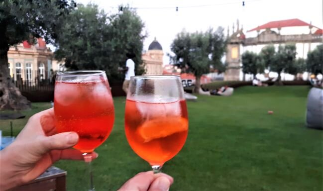 Aperol spritz at Base in Porto (photo: Brent Petersen)