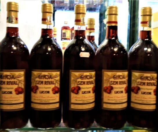 Bottles of Ginjinha at Ginjinha Sem Rival (Photo: Brent Petersen)