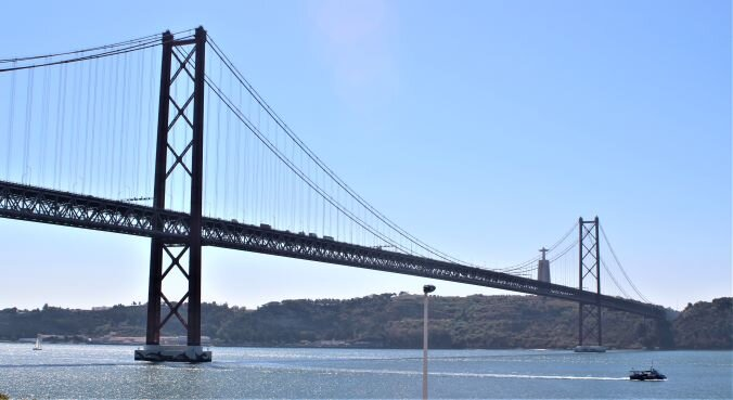 Take the 15 tram towards Belem to see the 25 de Abril Bridge (Photo: Brent Petersen)