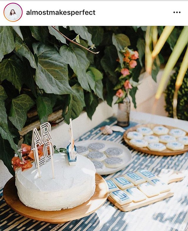 How cute is this dessert table set up by @almostmakesperfect for #arloboomer ?! Cake by molly and cookies by moi.