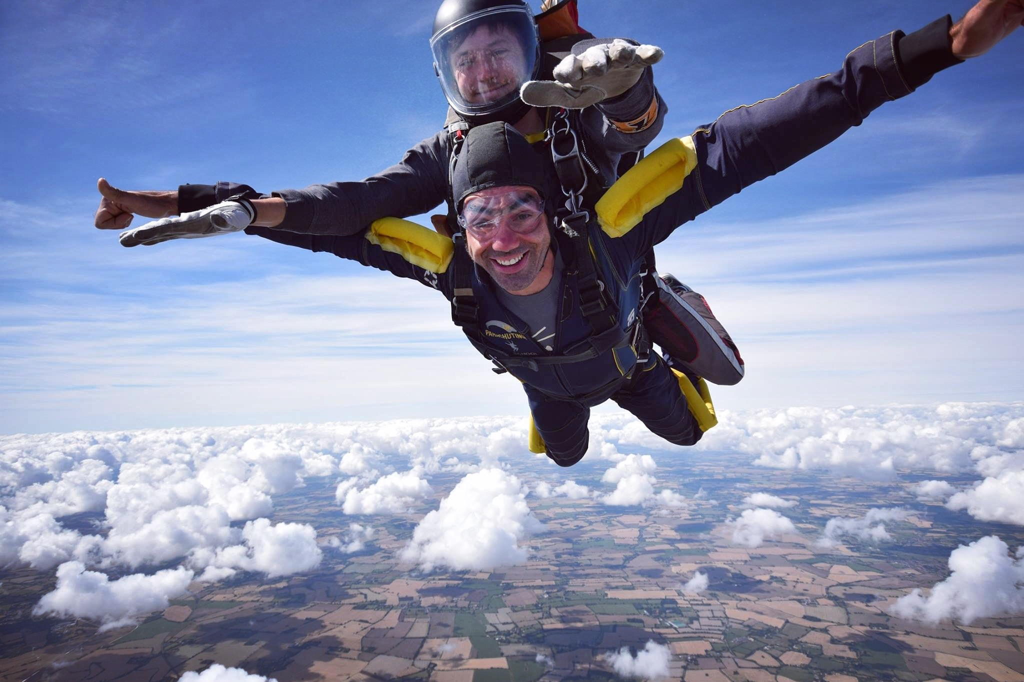 Martin Hewetson of  Kent Carlyle Wealth Management  took part in a skydive with Lee Cooper (above) to raise funds for Musical Keys in August 2018