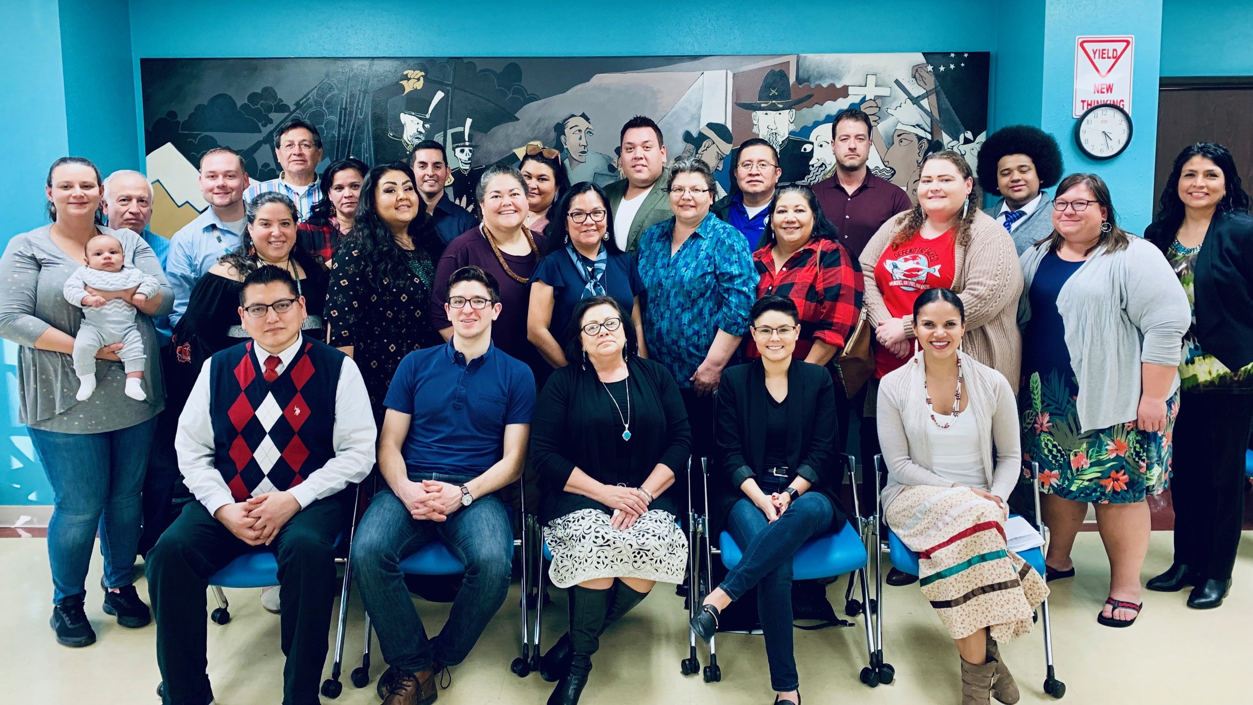 Representatives from grantee organizations convened in January to discuss the NUIFC Native Vote Initiative