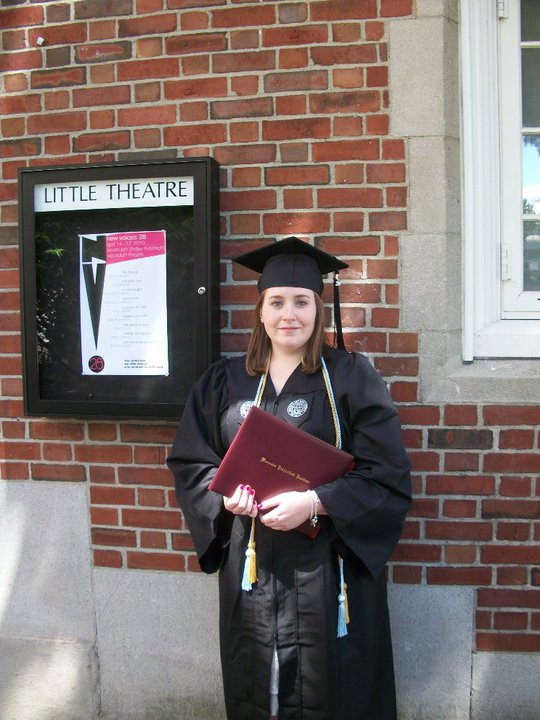 Graduating with my bachelors degree and honors for Theater!