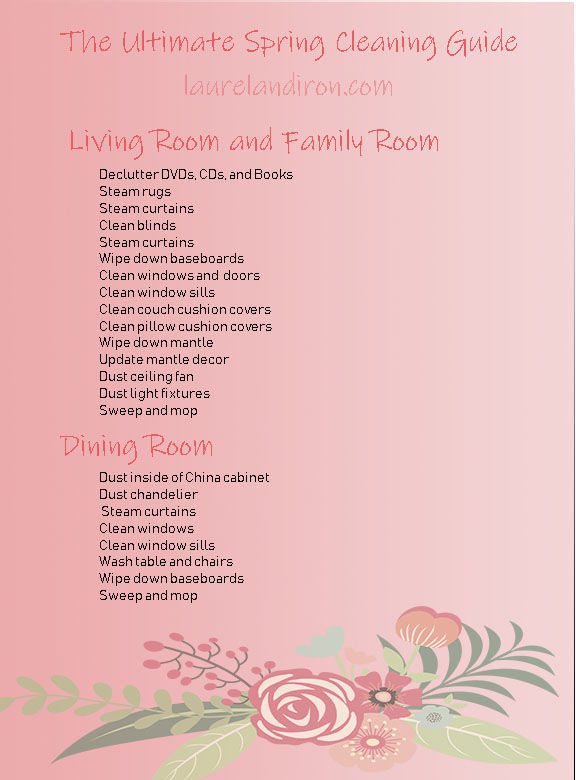 Ultimate Spring Cleaning Guide - Living and Dining Room | Laurel and Iron