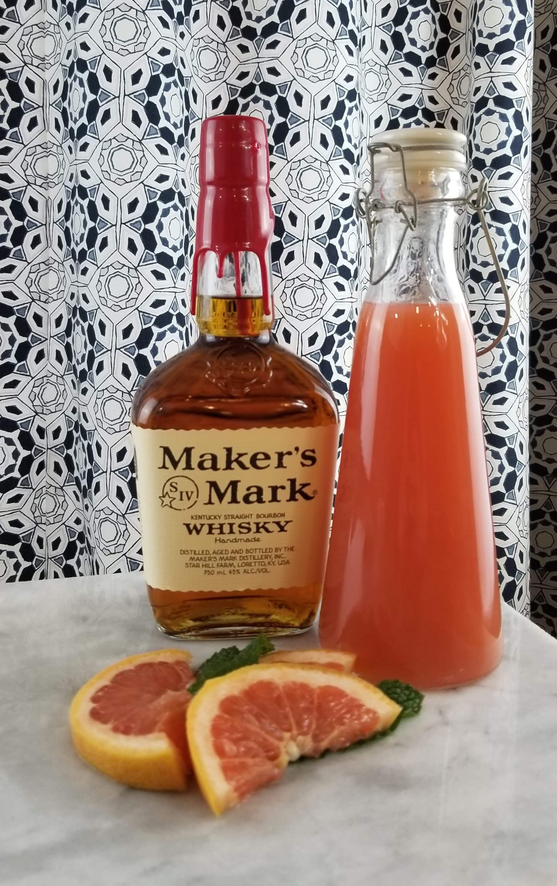 The Makings of  a Grapefruit Mint Julep for your Easter Brunch! | Laurel and Iron