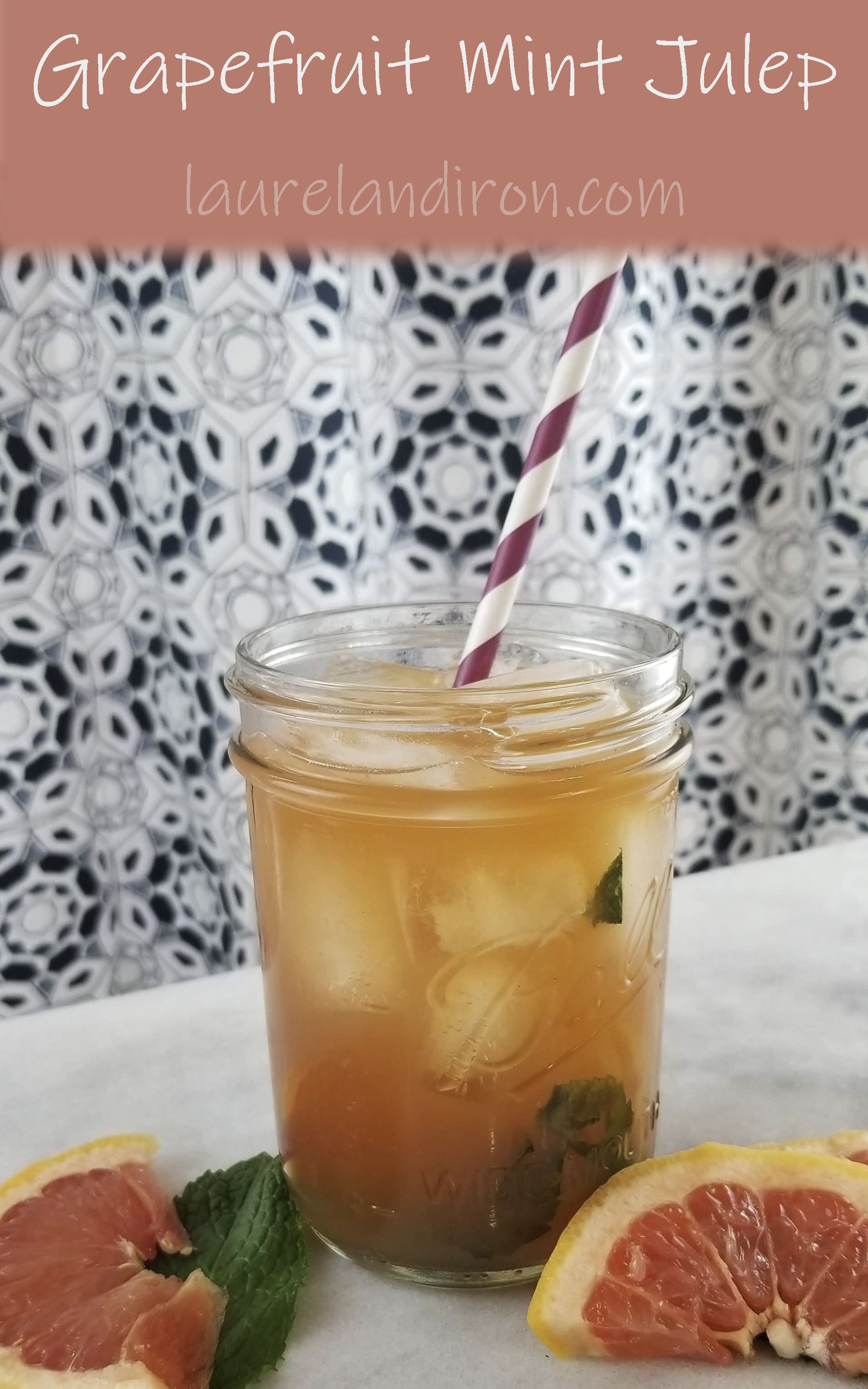 Grapefruit Mint Julep - the perfect drink for a spring brunch | Laurel and Iron
