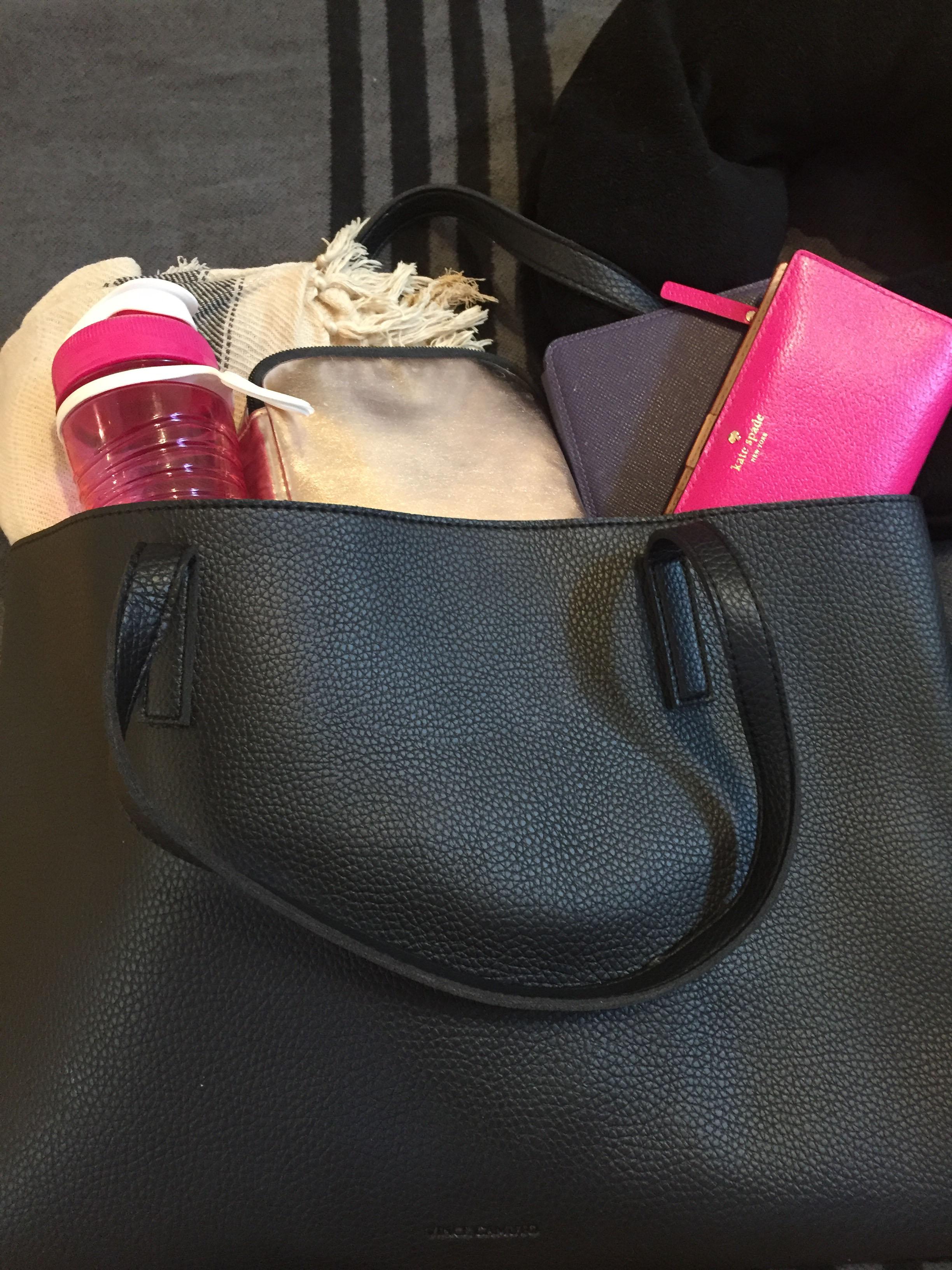 In Flight Essentials in a Bag