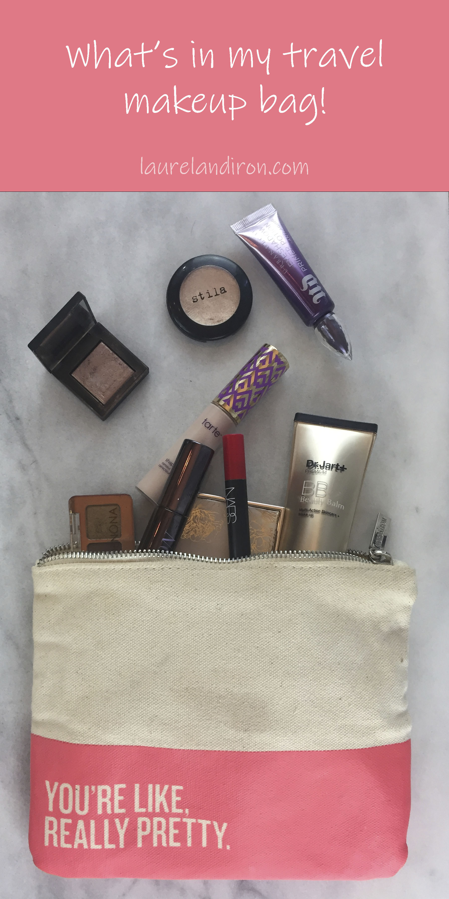What's in My Travel Makeup Bag | Laurel and Iron