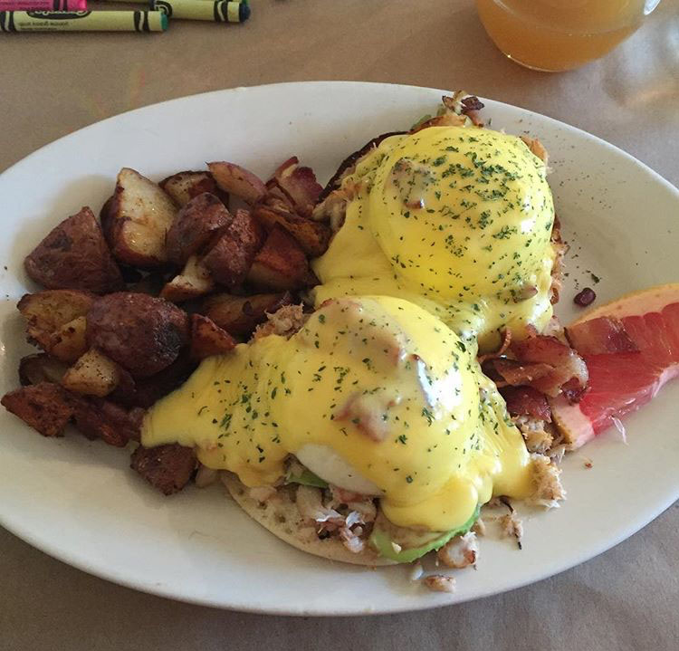 Crab and Avocado Eggs Benedict at The Sinful Kitchen