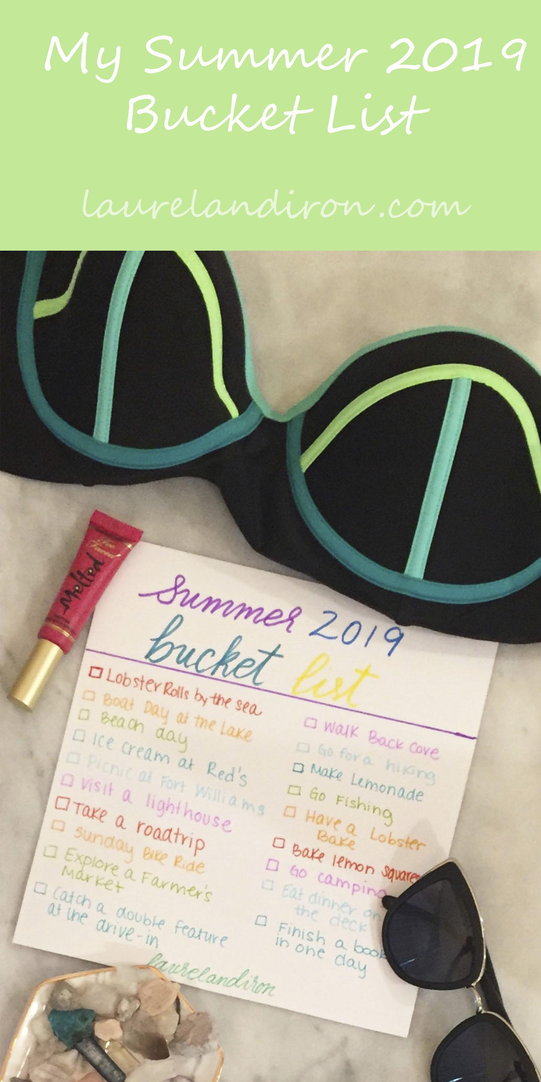 My Summer 2019 Bucket List | Laurel and Iron