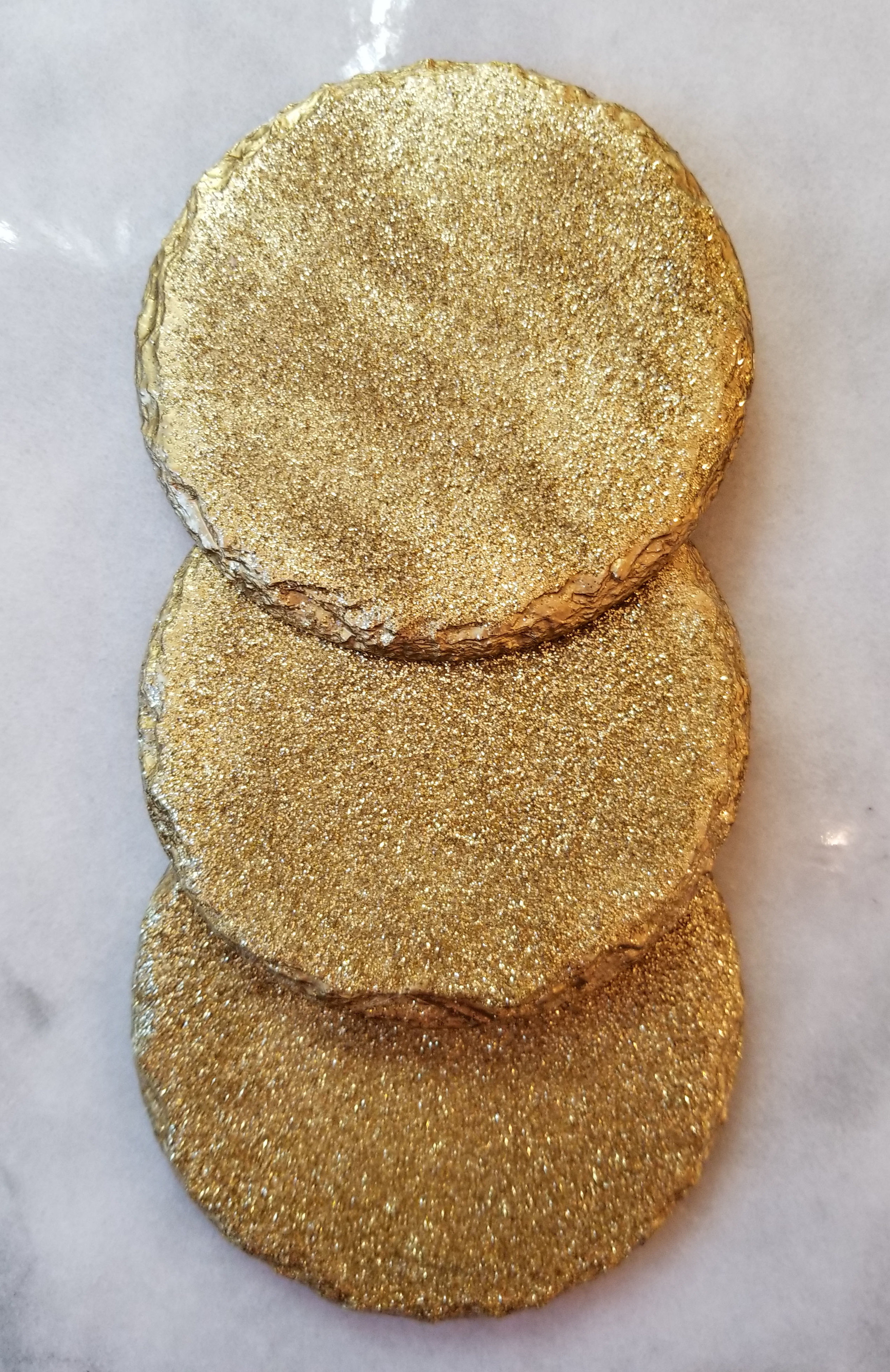 Renee Handmade Gold Glitter Slate Coasters   My Favorite Amazon Finds   Laurel and Iron