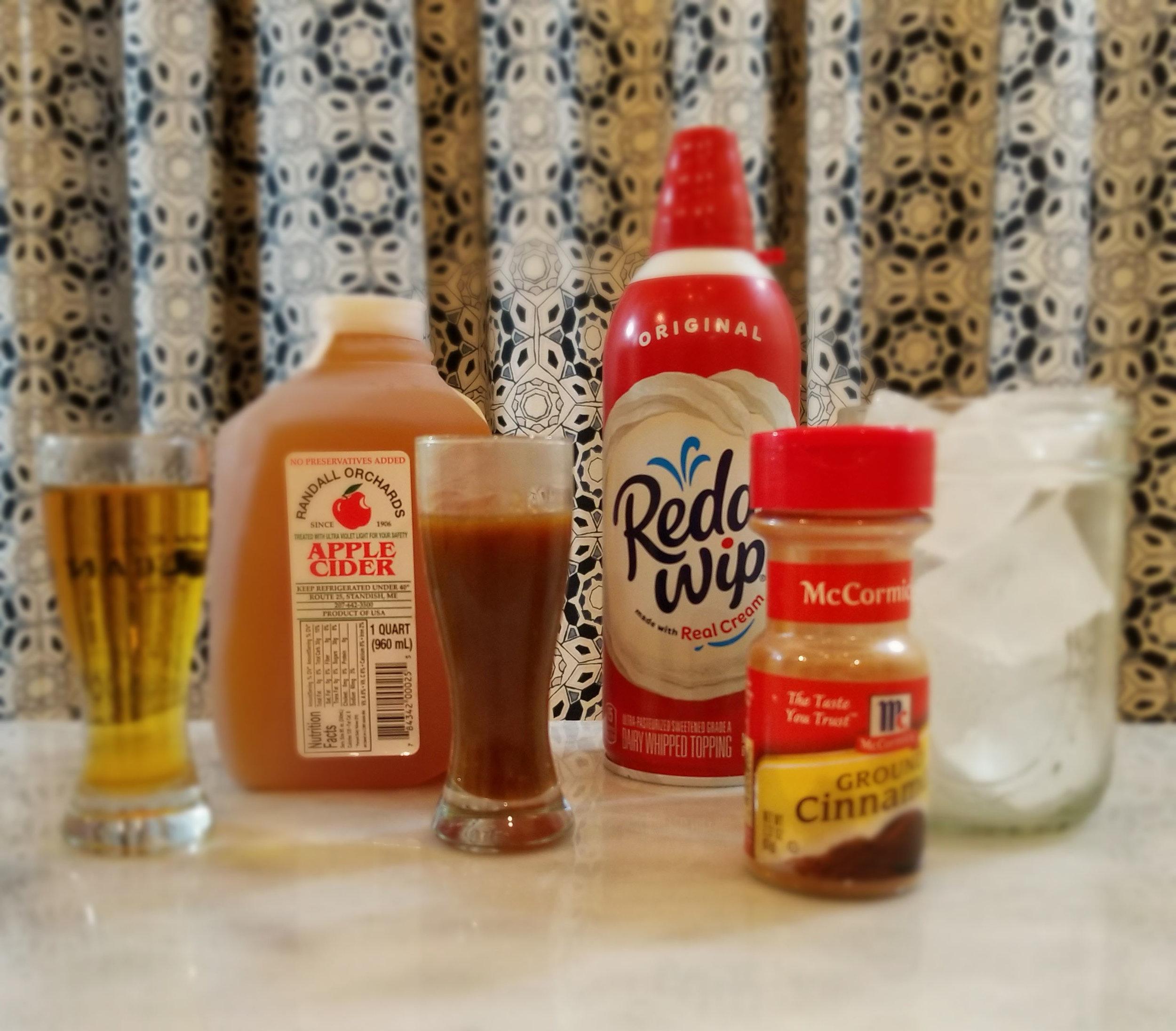 Caramel Apple Cider Rum Slushie | Laurel and Iron