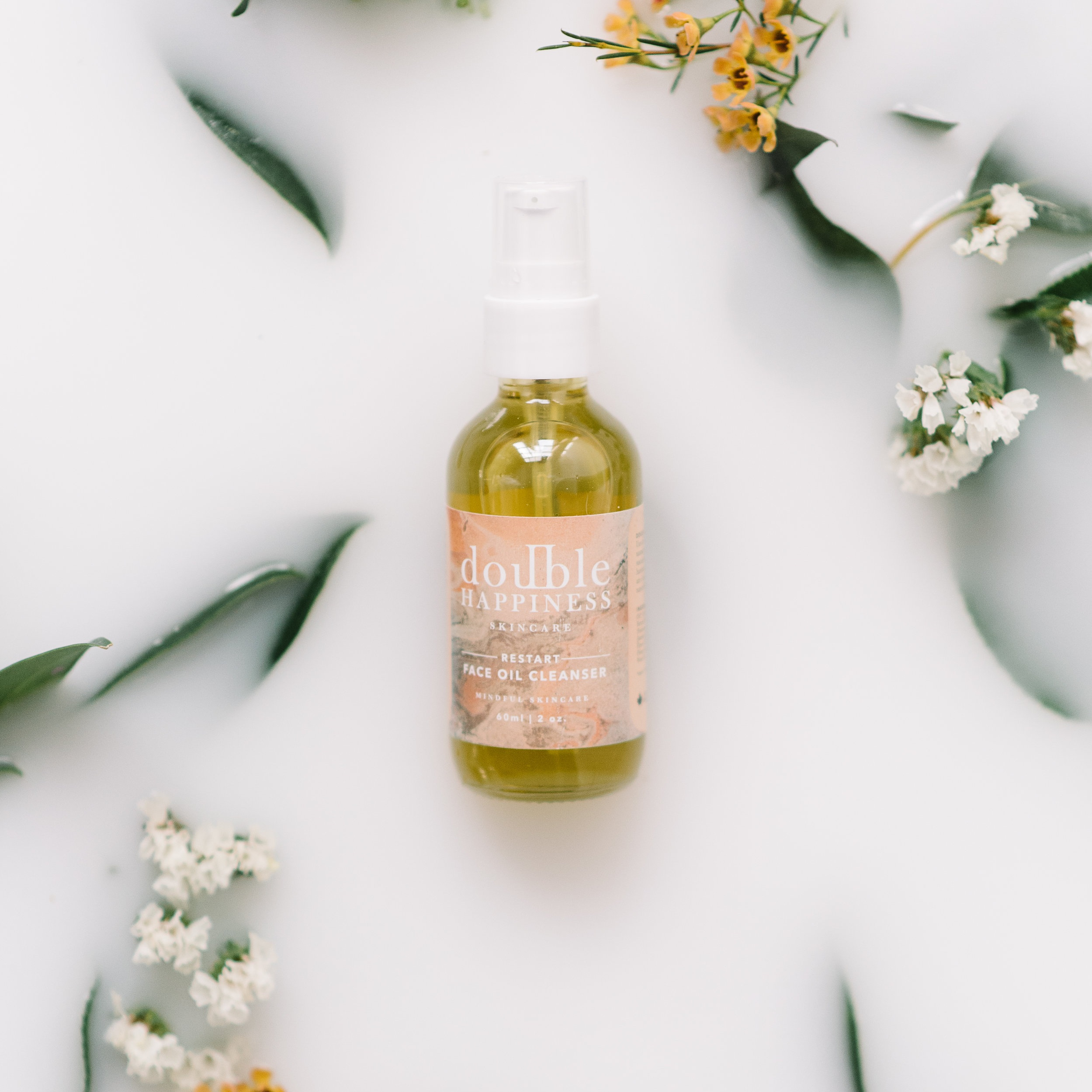 Natural Skin Care for Winter — Try Restart Face Oil Cleanser from Double Happiness