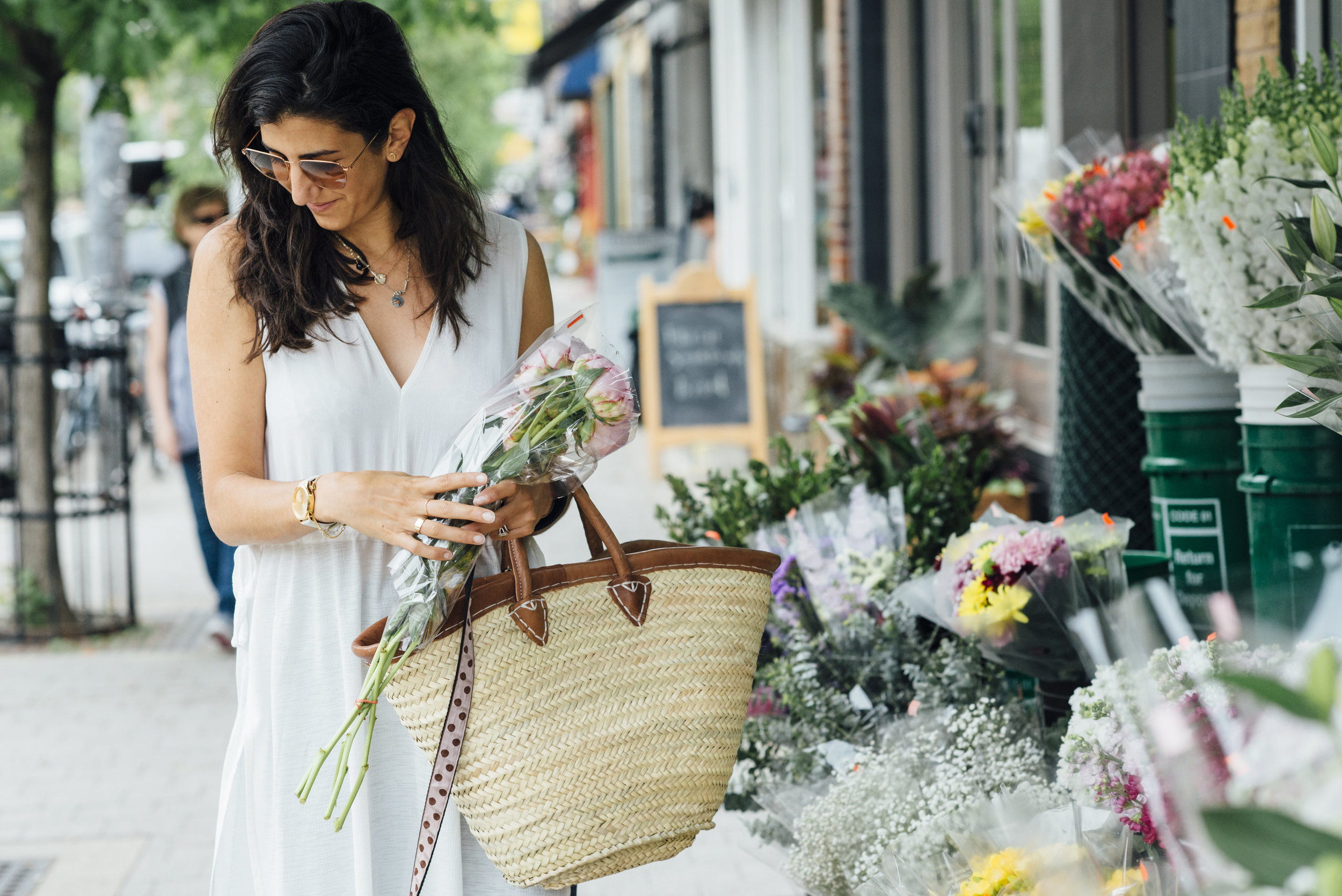 Look for natural fibres that breath in the summer heat and avoid tight clothes. Great advice from Alyssa Beltempo.