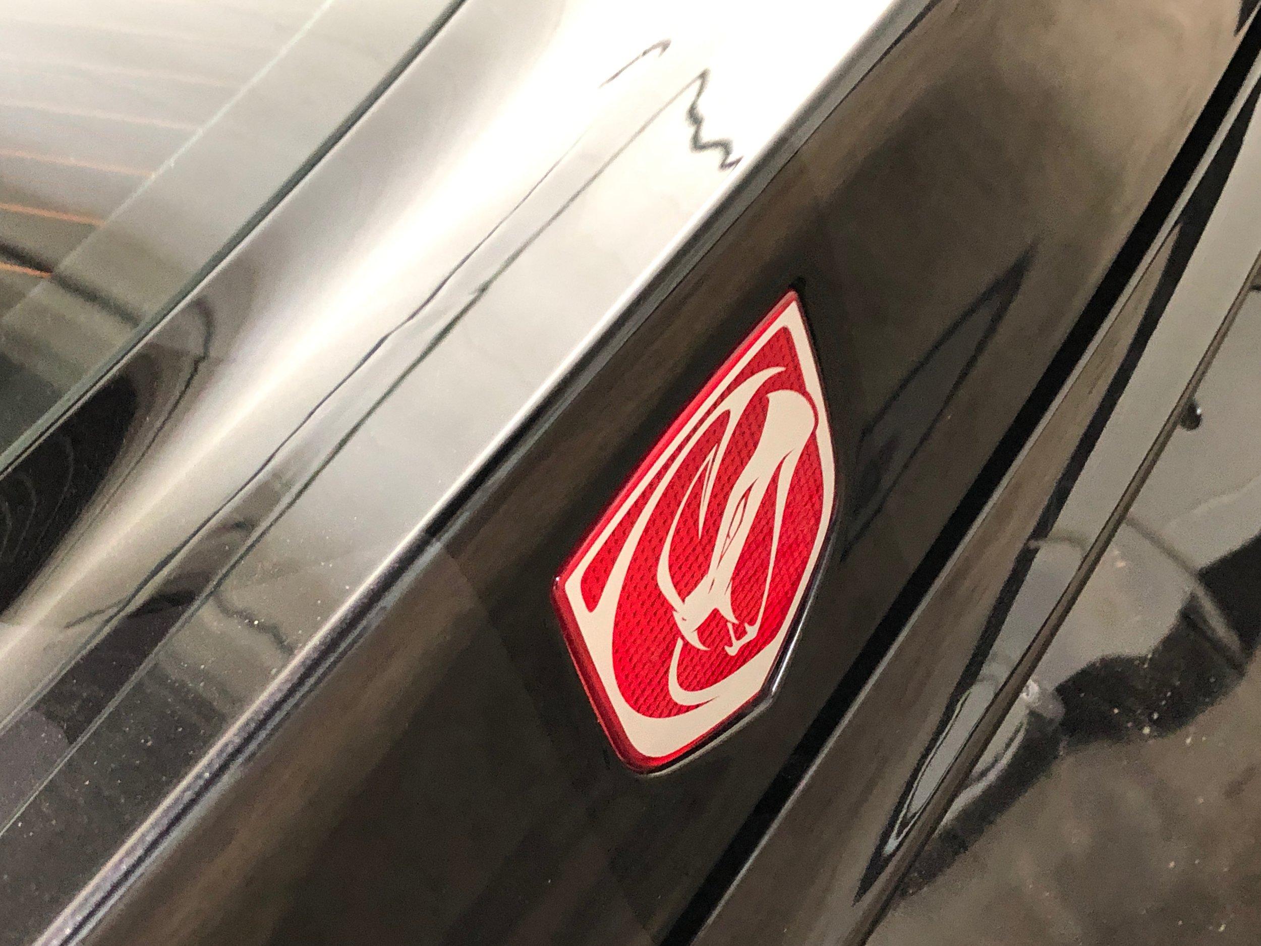 Black Dodge Viper Gts Logo