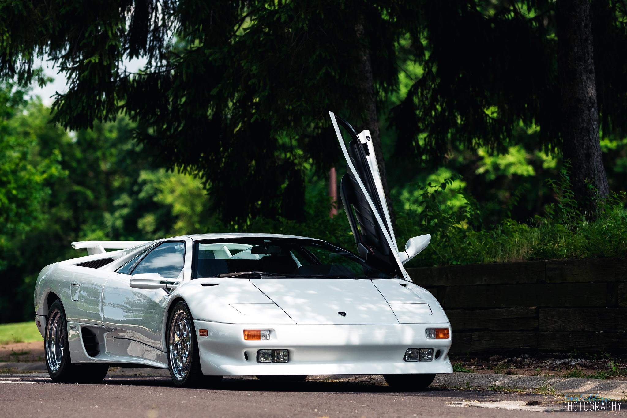1991 White Lamborghini Diablo Open Door