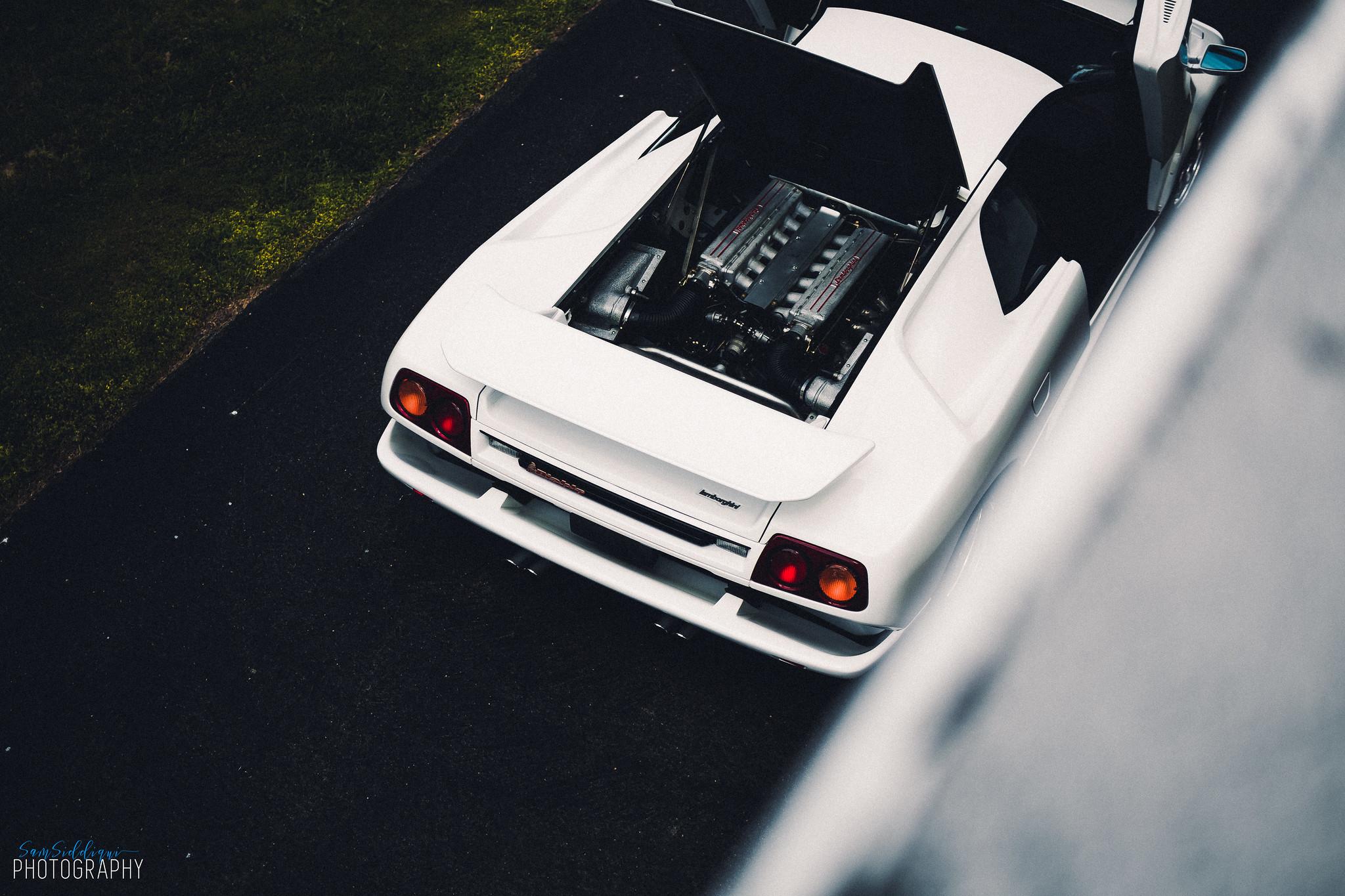 1991 White Lamborghini Diablo Open Roof