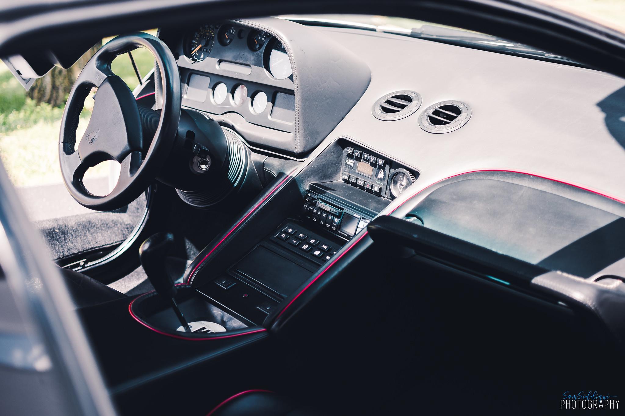 1991 White Lamborghini Diablo Interior