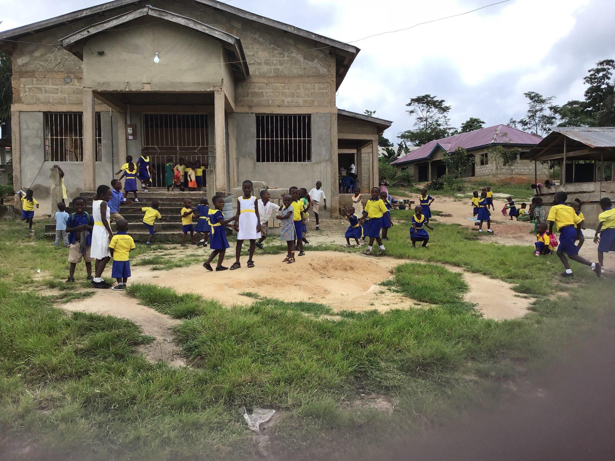 Primary school in Ofoase, Ghana.