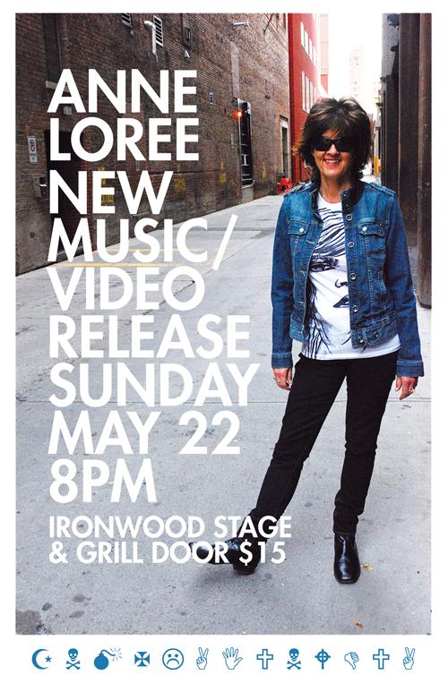 Anne Loree gig poster