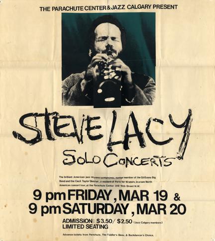 Steve Lacy Solo Concert
