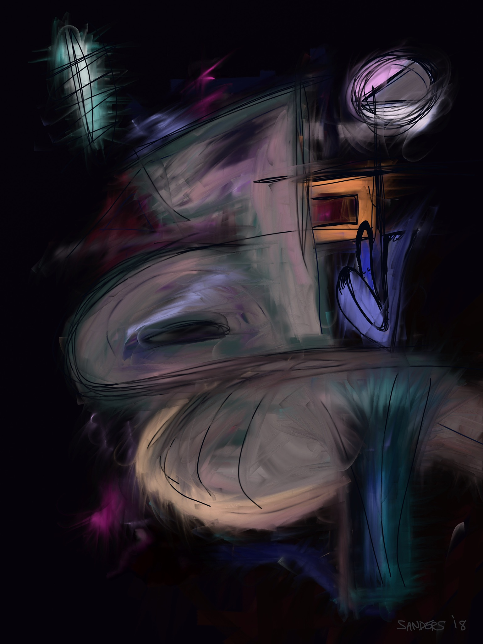 Eggplant Abstract (2018) digital painting