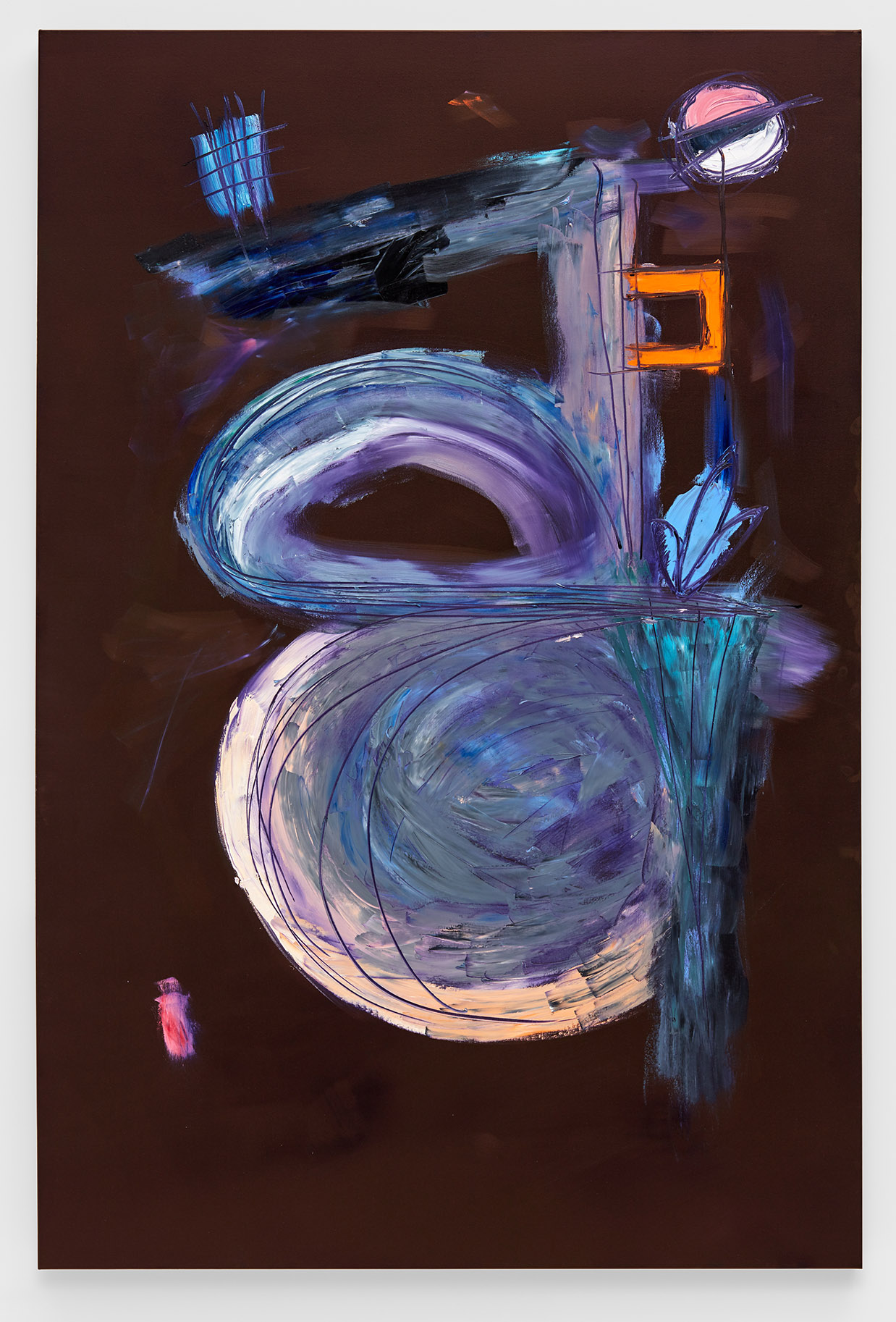 Eggplant Abstract (2018) oil on canvas, 48 x 72 inches