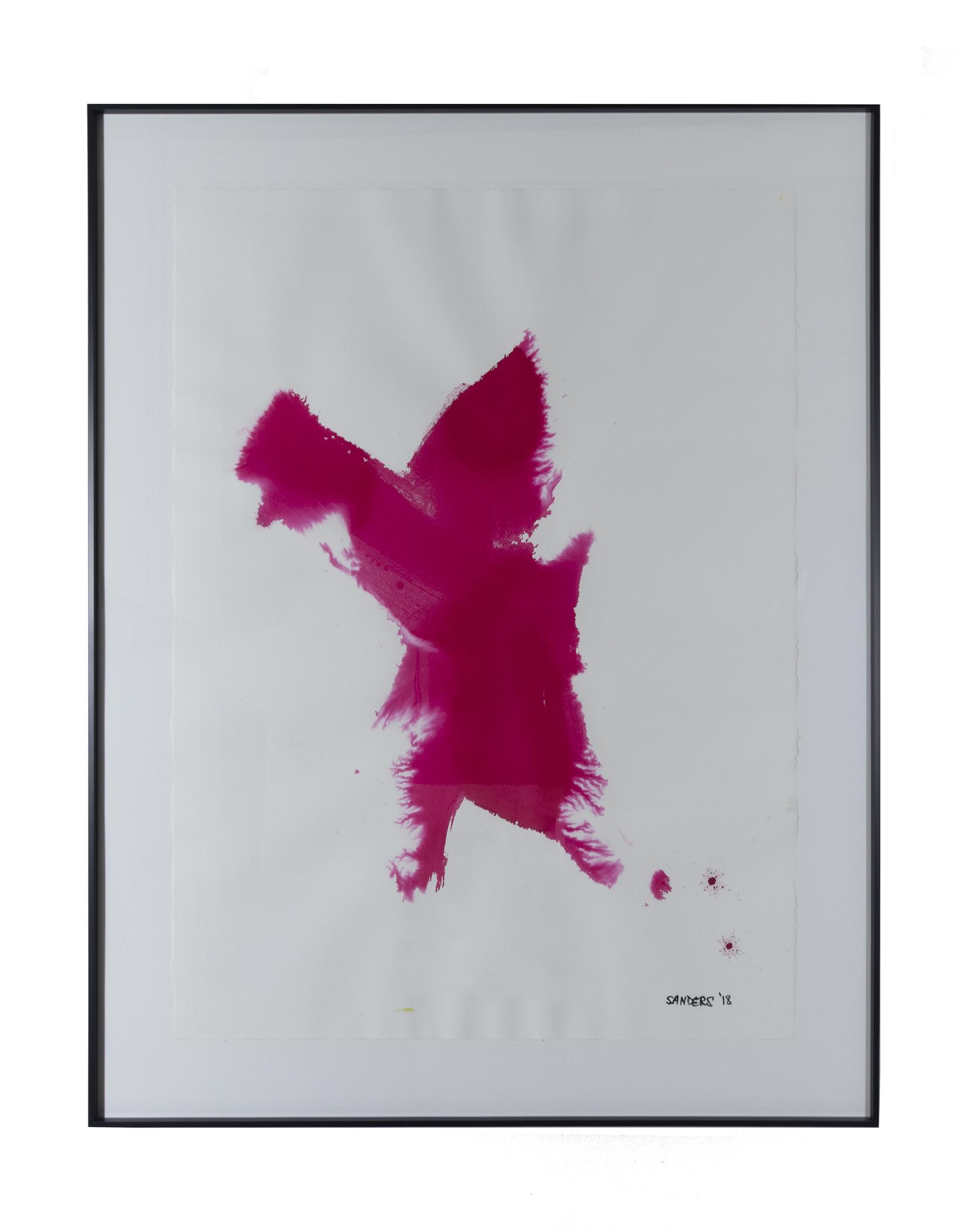 """Frankenthaler Fusion Series - Part 1(2018) paint stick & dye on paper 26"""" x 38"""""""