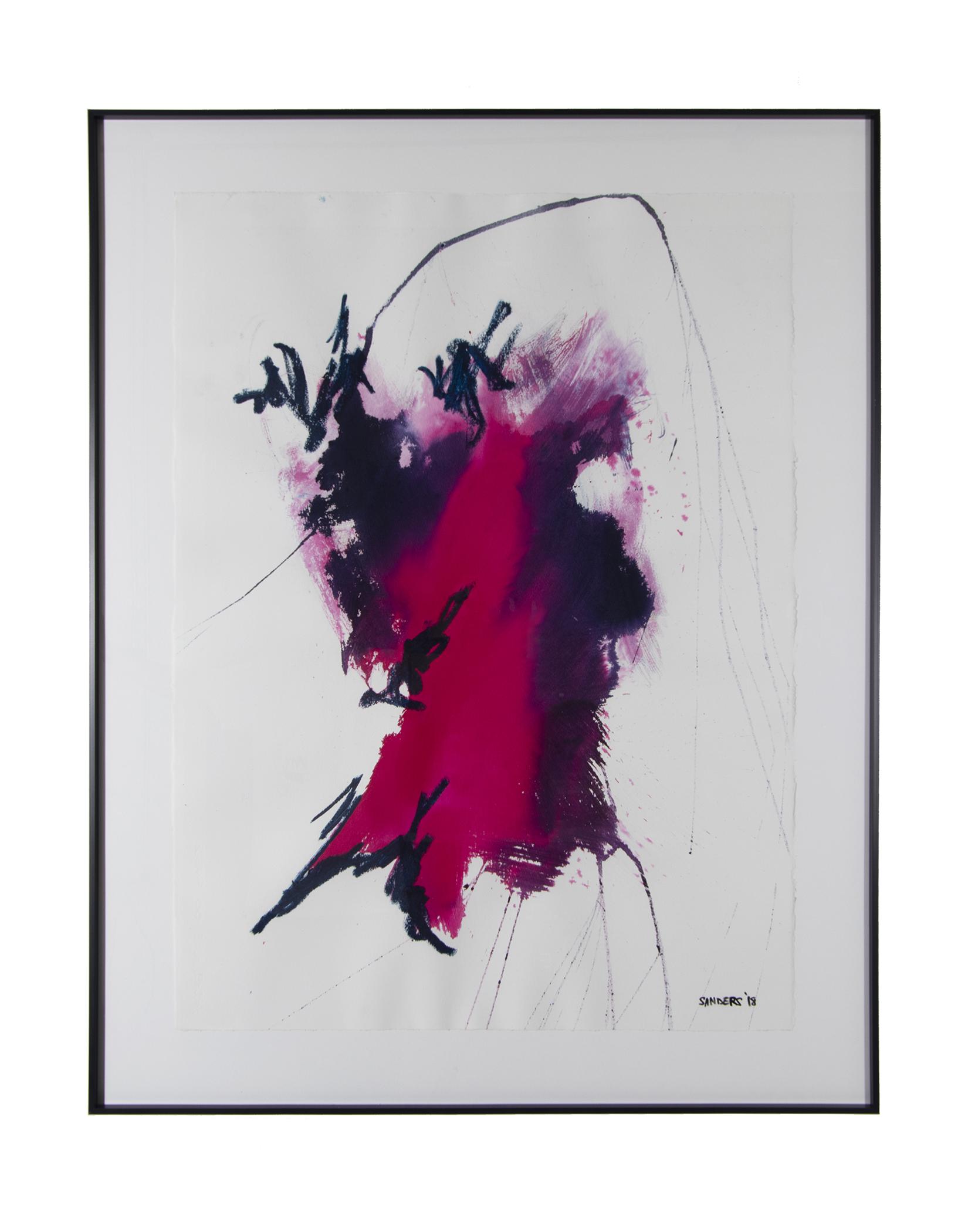 """Frankenthaler Fusion Series - Part 2 (2018) paint stick & dye on paper 26"""" x 38"""""""
