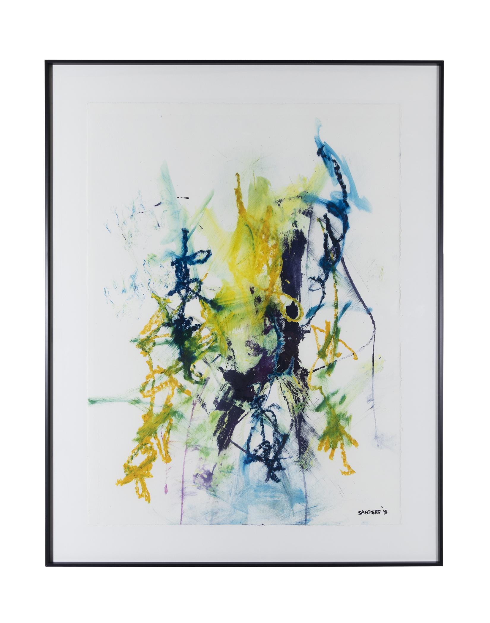 """Frankenthaler Fusion Series - Part 3 (2018) paint stick & dye on paper 26"""" x 38"""""""